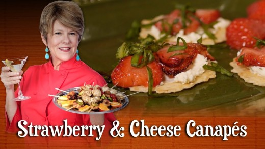 Strawberry & Cheese Canapes | Pre-Prans with Ruthie
