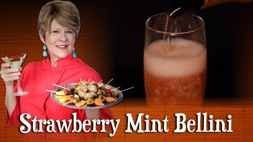 Strawberry Mint Bellini | Pre-Prans with Ruthie
