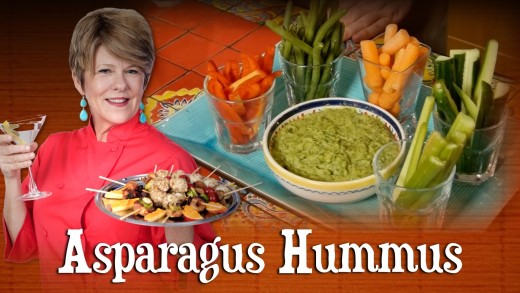 Pre Prans with Ruthie-Asparagus Hummus